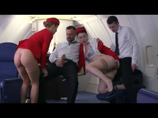 Dorcel Airlines - indecent flight attendants (Elena Koshka, Mari