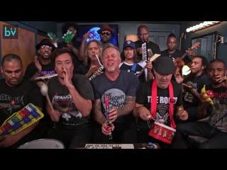 Джимми фэллон и metallica исполнили «enter sandman»