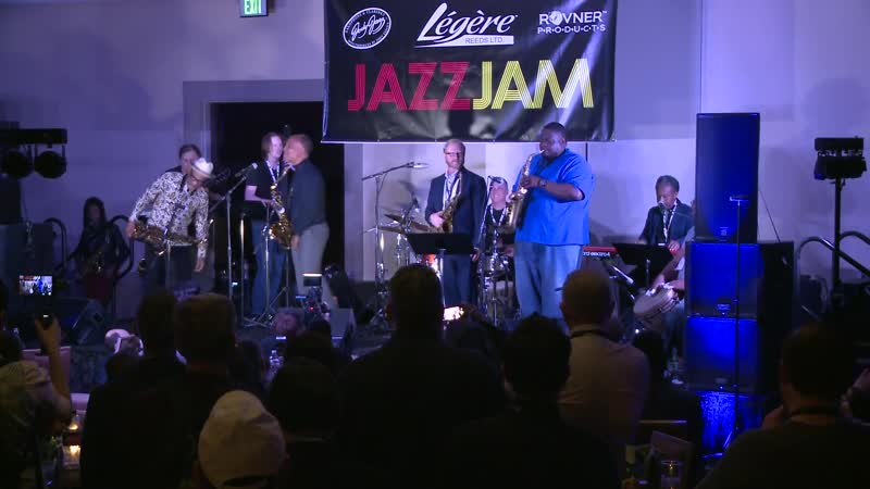 """JodyJazz at the 2019 Jazz Jam - Incredible All-Star Sax Section performs """"Cant Stay Blue"""""""