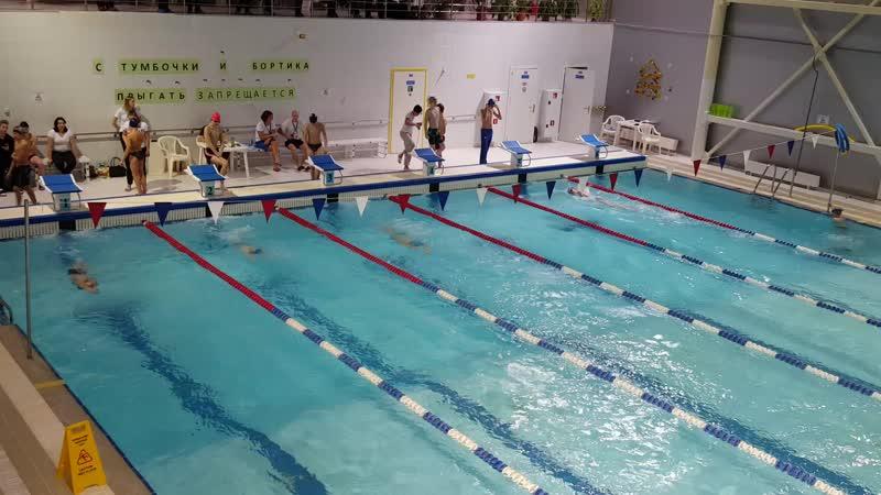 2019 12 26 двоеборье 100 метров вольным стилем юноши 2005 2007 г р Х заплыв 1 09 68