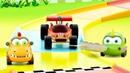 Машинки Мокас устроили гонки с гоночной машинкой. Мультики для детей развивающие