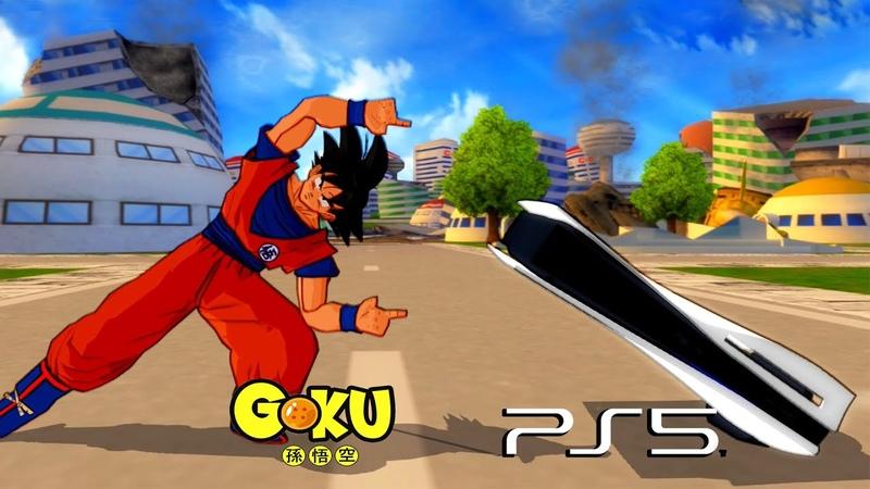 Goku and PlayStation 5 FUSION GoStation vs Xbox Series X DBZ Tenkaichi 3 MOD