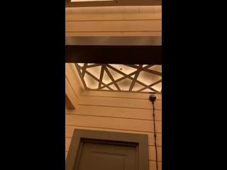 Реализация потолочного освещения в деревянном доме по эскизу дизайнера Калинина Маргарита
