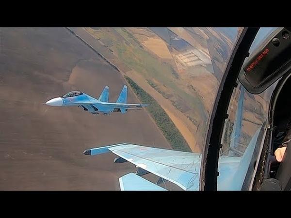 Летчики Су 30СМ и Су 25СМ нанесли удар по противнику на полигоне Ашулук