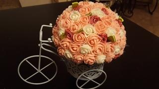 Топиарий-велосипед из роз, Мастер класс!