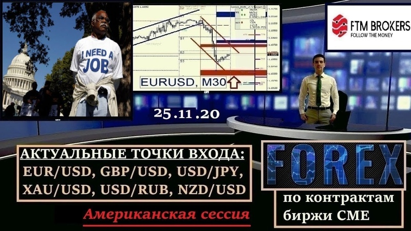 Калманович Олег Американская торговая сессия Обзор валютного рынка 25 11 20 EURUSD GBPUSD USDJPY