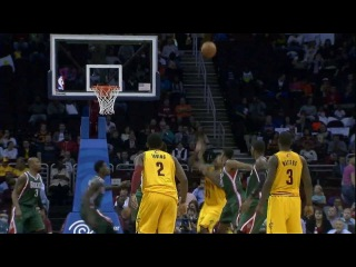 Kyrie Irving is Spot On for the Alley Oop to Tristan Thompson