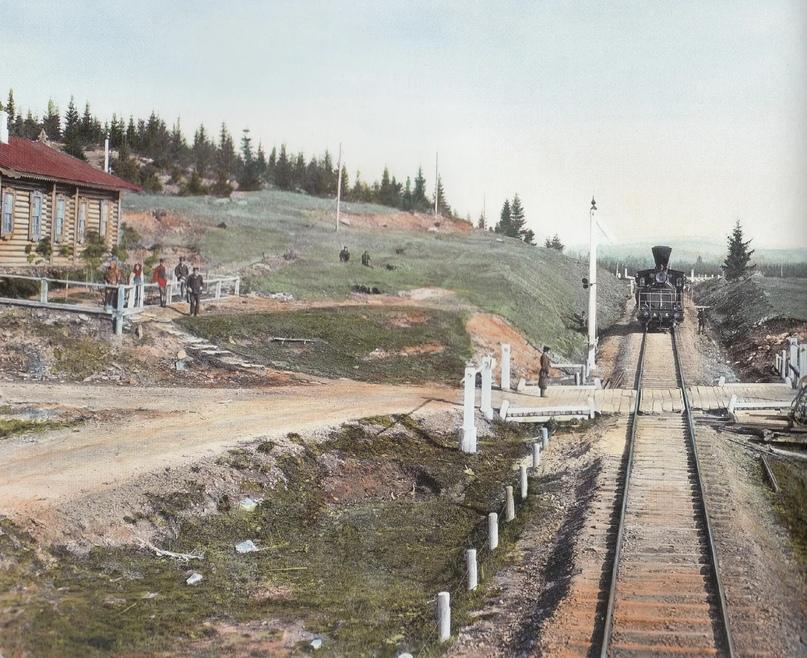 Первозданная железнодорожная Россия в цвете эпохи царской Империи глазами неизвестного фотографа, изображение №9