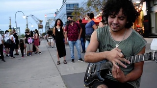 Zombie - Damian Salazar - (The Cranberries Electric Guitar Cover) ON THE STREET