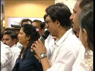 srk at cochin Emmanuval Silks Inauguration
