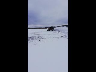 CF MOTO X8 дрифт на снегу