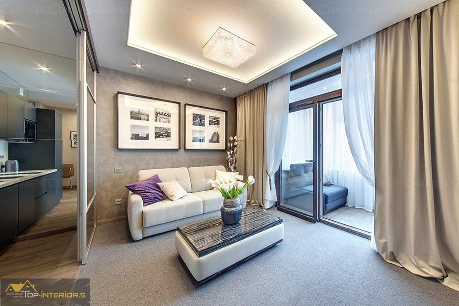 Дизайн квартиры 34 м (с лоджией) в Санкт-Петербурге.