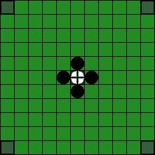 Хнефатафл (тавлеи) -  Возможные способы захвата короля (1)