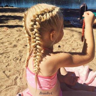 100 зачісок для дівчаток