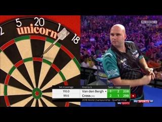 Dimitri Van den Bergh vs Rob Cross (PDC World Darts Championship 2018 / Quarter Final)