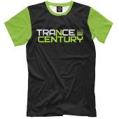 Мужская футболка Trance Century Radio / Black-Green