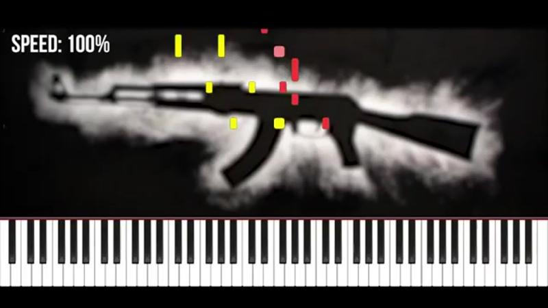 FACE Мой Калашников Легко на Пианино Ноты