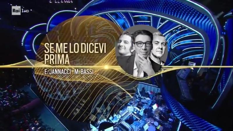 Paolo Jannacci con Francesco Mandelli e Daniele Moretto Se me lo dicevi prima Serata cover Sanremo 2020