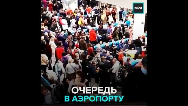 Очереди в аэропорту Домодедово Москва 24