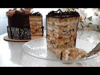 """Песочный торт с фруктами и орехами. / Наша группа во ВКонтакте: """"ТОРТ-РЕЦЕПТ-VК""""."""