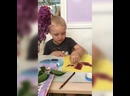 Нетрадиционное рисование Букет сирени /Павел Рачеев , 4г. 26.05.21/