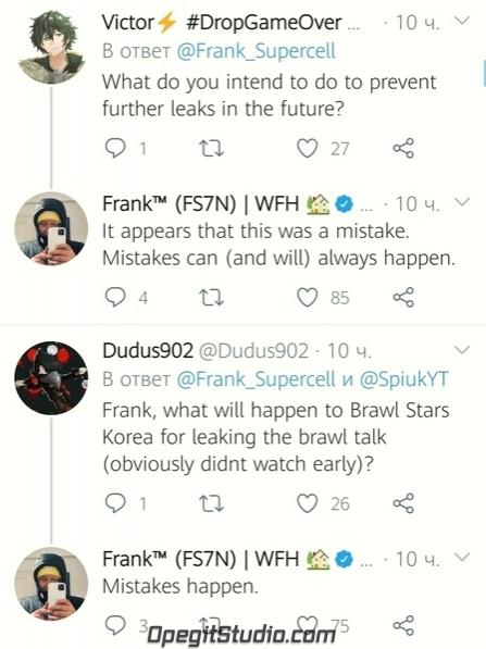 Ещё несколько примечательных вопросов из твиттера Фрэнка: Q:
