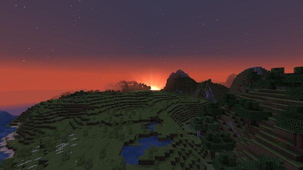 Красивое небо на майнкрафт 1.7.2