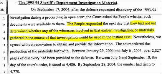 Судебные документы о деле 1993 года и злонамеренном преследовании Майкла Джексона., изображение №16