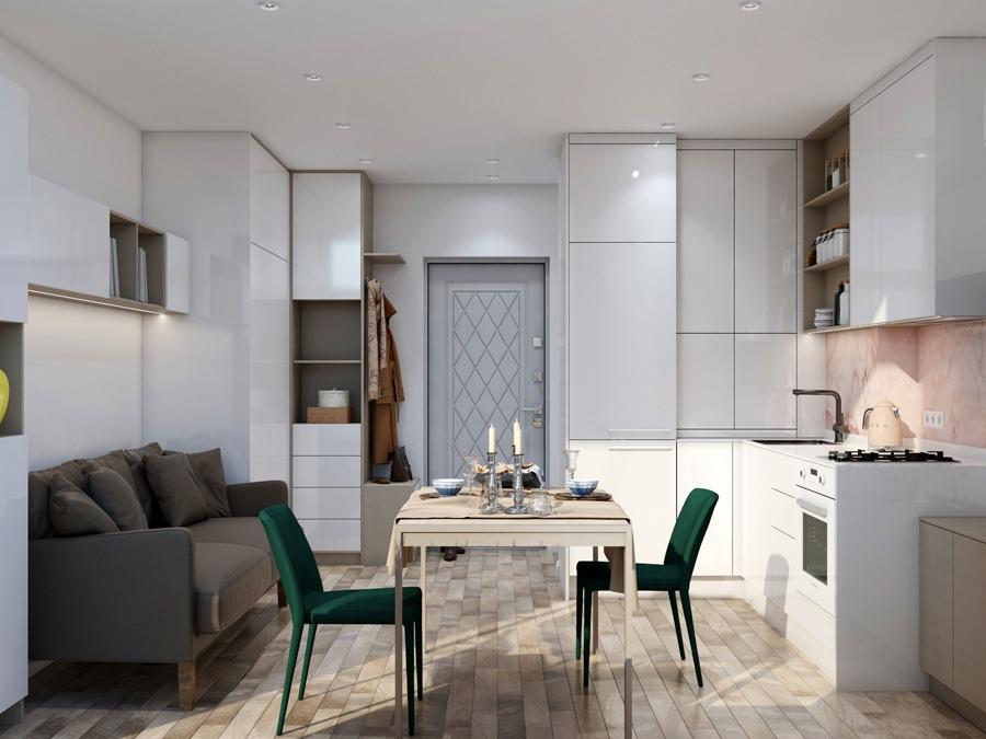 Проект маленькой квартиры-студии 19 кв.