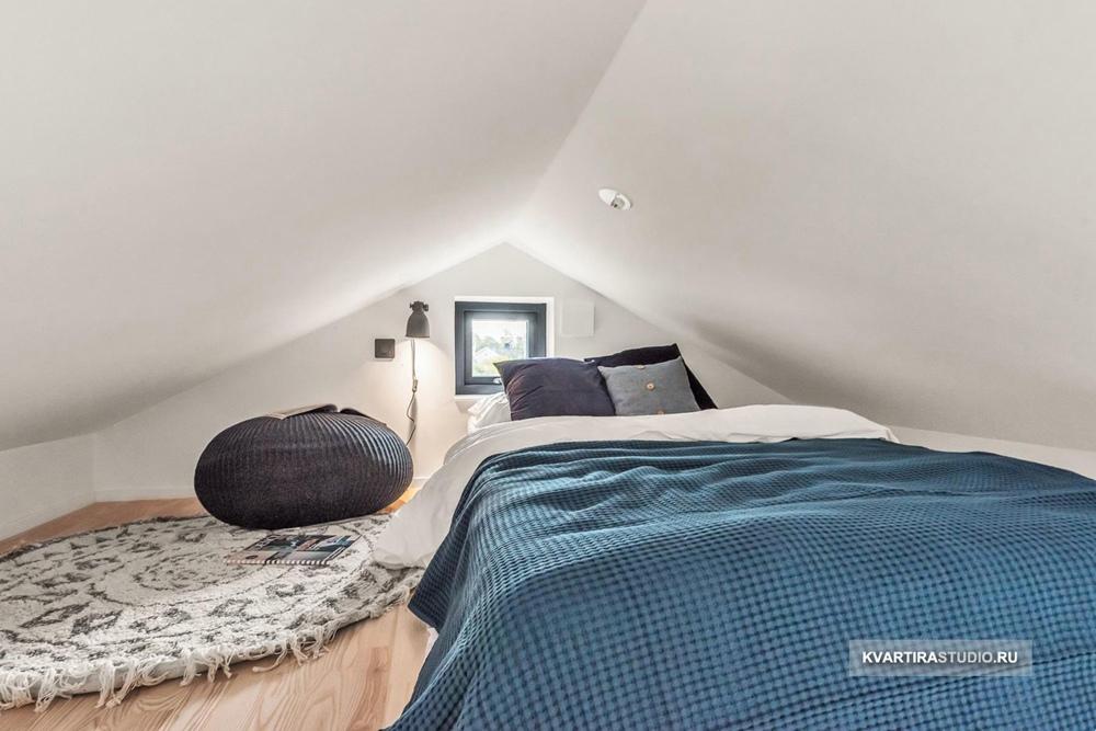 Маленький дом-студия 20 м со спальным ярусом.