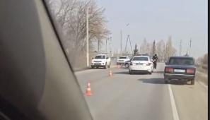 Внедорожник и патрульная ДПС столкнулись в Липецком районе