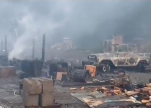 В КЧР сгорел палаточный базар