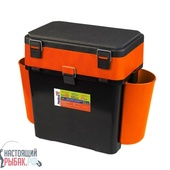 Ящик зимний Helios FishBox 2 секции Тонар (Оранжевый, 19 л)
