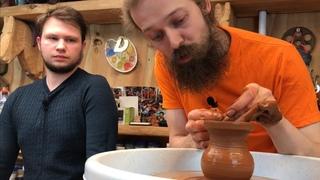 🍯 Как сделать Гончарный круг из Дрели за 1500 рублей! Медленное центрирование Волшебство керамики