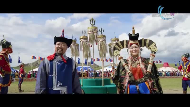 Церемония открытия Национального фестиваля Наадам в Монголии 2020