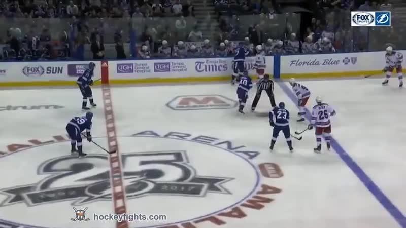 NHL Fight Steven Kampfer vs J T Brown Nov 2 2017 Хоккейные драки 02 11 2017