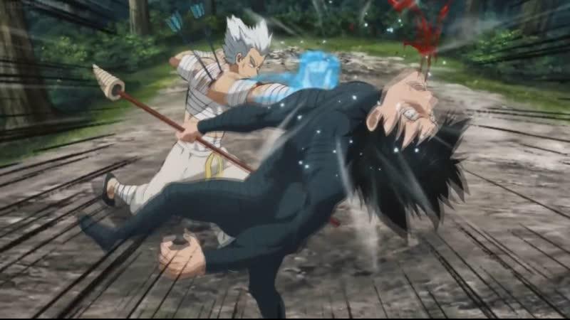 Garou defeats stinger and Megane Garou Garo Гароу Onepunch man anime ванпанчмен