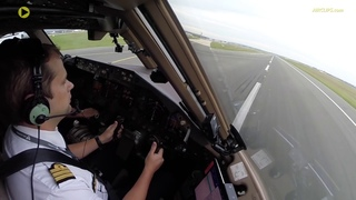 HEAVY & LOOONG B777-300ER Takeoff Run out of Paris CDG!  [AirClips]