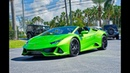 Lamborghini Huracan EVO Spyder V10 BULL Walkaround Interior Exterior SOUND at Lamborghini Miami