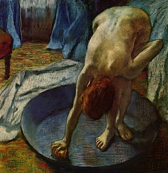 «Таз» (Ванна), Эдгар Дега 1886 г. Пастель, картон. Размер: 60 x 83 см. Музей Орсэ, Париж, Франция. С приходом 1880-х годов Дега все чаще изображает обнаженное тело. Пастель «Таз» (Ванна),
