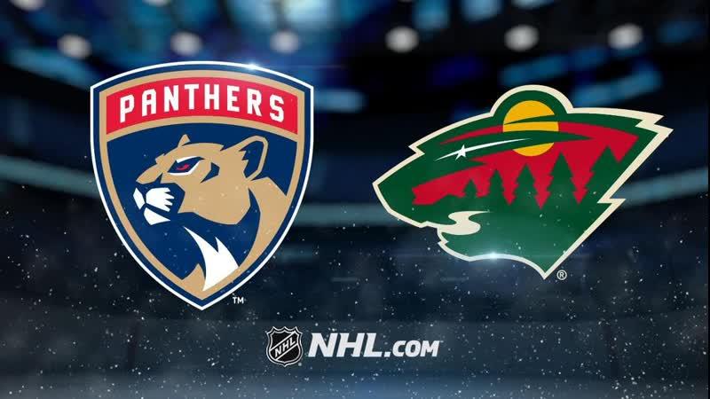 NHL Florida Panthers vs Minnesota Wild НХЛ Флорида Пантерз и Миннесота Уайлд