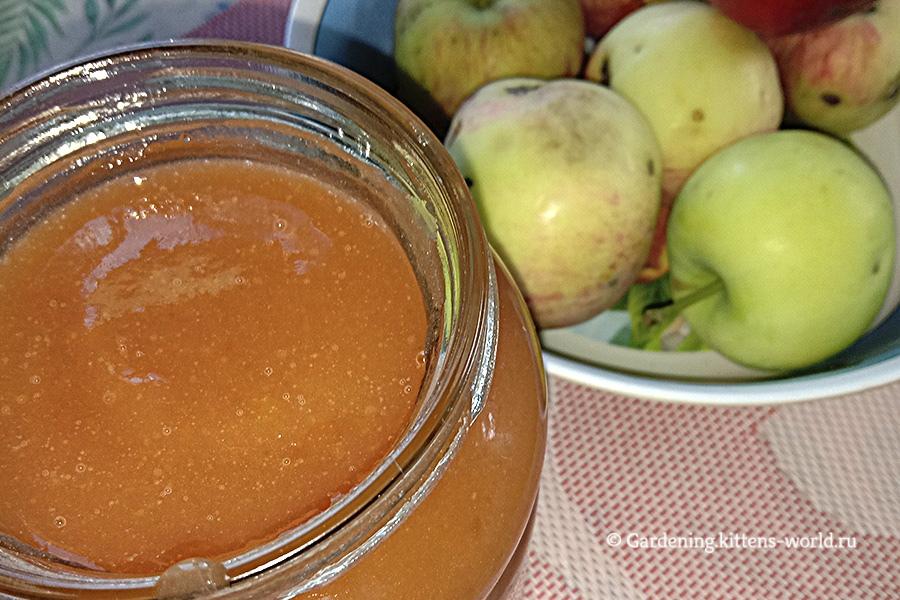 Яблочное пюре из падалицы