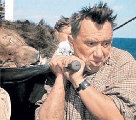 «Полосатый рейс» фильм, конечно, веселый, но был на съемках и очень мрачный эпизод, связанный со смертью льва Васи В той сцене, где моряки тащат из медпункта на носилках спящего льва, по