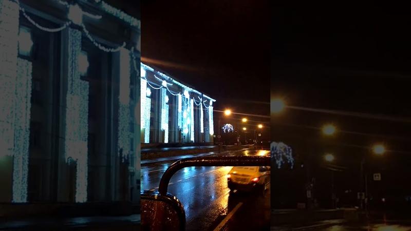 Ночной шторм в Петербурге