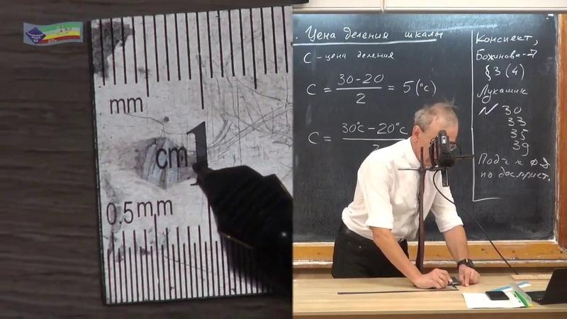 Урок 4 осн Измерение физических величин Цена деления шкалы измерительного прибора