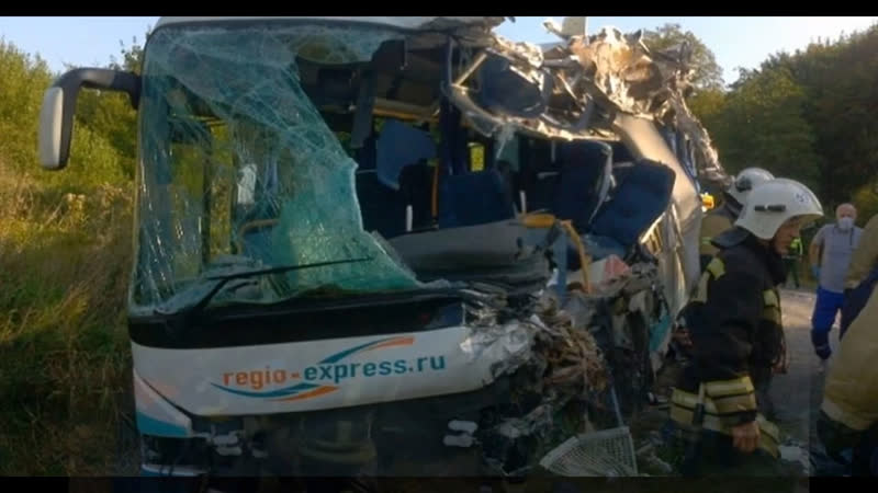 ПолесстТВ Авария с автобусом под Янтарным