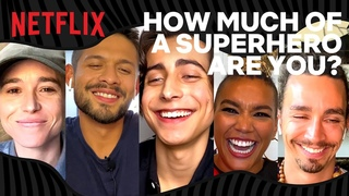 How Much of A Superhero Are You?! with the cast of Umbrella Academy