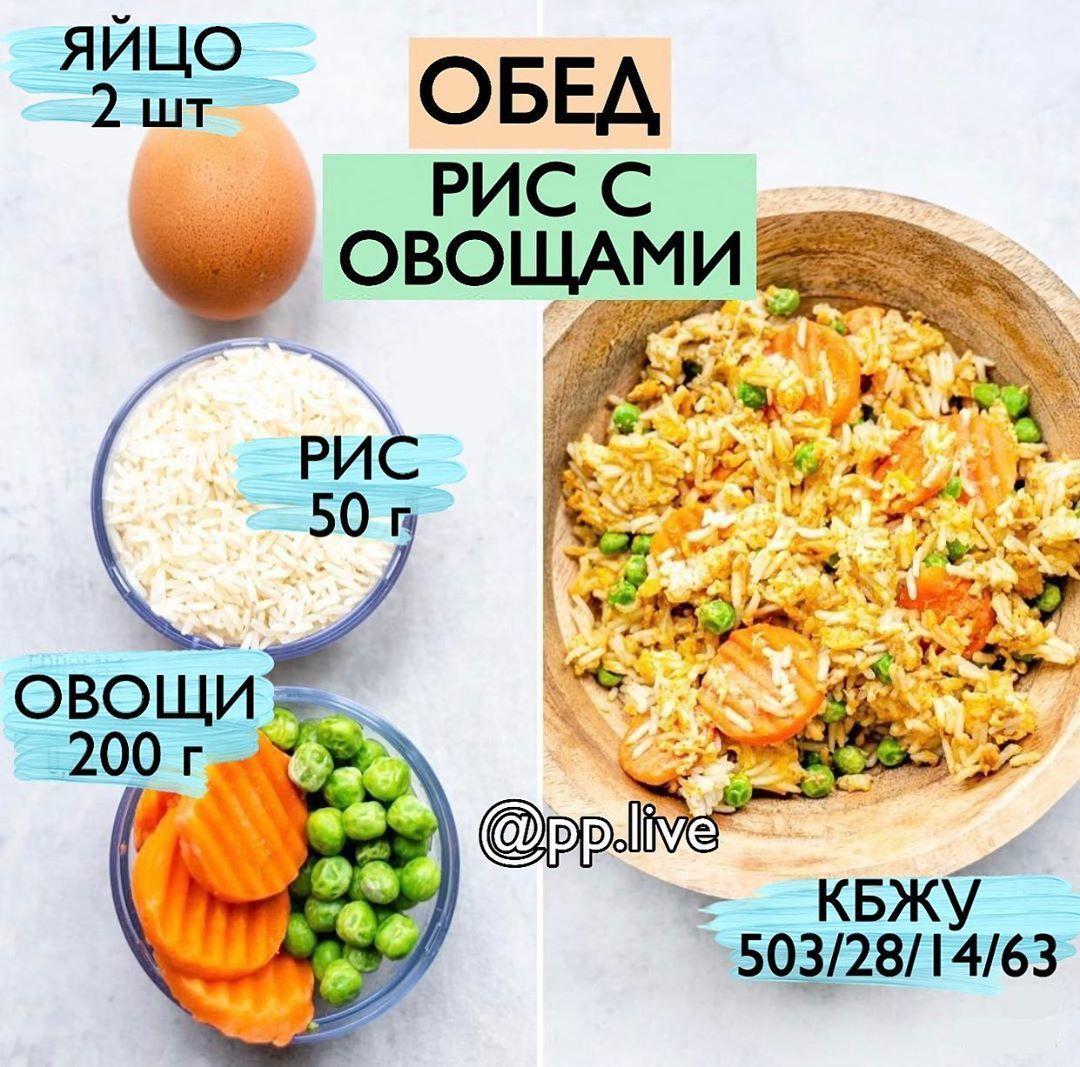 Рис с яйцом и овощами