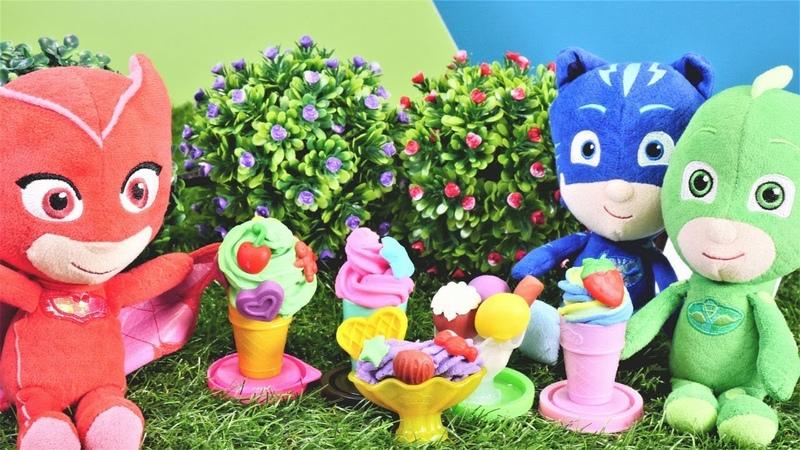 Play Doh tatlı dükkanında Pijamaskeliler oyunları