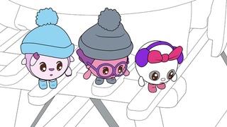 Малышарики - Раскраска для детей - Снег | Развивающие мультики